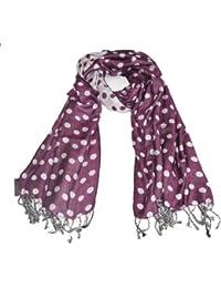 Lovarzi Getupfter Jacquard Damen-Schal – Qualitativ hochwertigen getupfte Schal für Frauen - Doppelseitiger Paschminaschal,Damen-Tuch