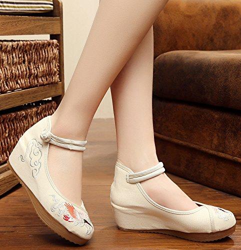 ICEGREY , Chaussures de ville à lacets pour femme Beige