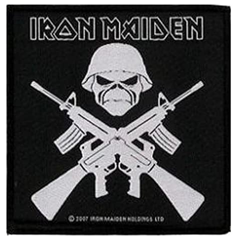 Iron Maiden Crossed Guns Patch 10 X 9.5CM (4 X 3-3/4) by Klicnow