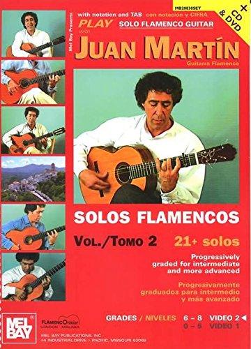 Play Solo Flamenco Guitar With Juan Martin - Volume 2 (Book, CD & DVD): Buch, CD, DVD (Video), Lehrmaterial für Gitarre