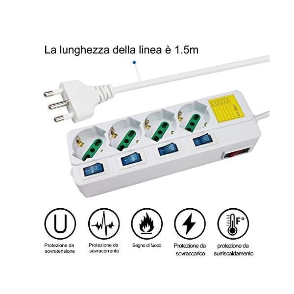 Extrastar-Multipresa-ciabatta-elettrica-6-Posti-1016A-Bipasso-Schuko-250V-Max2500W-con-interruttori-indipendenti-15MT