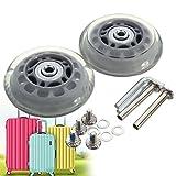 Gummireifenrollkoffer MOHOO Ein Paar runden Räder rollen und Reifen 70x24mm (A)