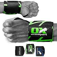 OXENSPORT Handgelenk Bandagen Fitness & Gym, Handgelenkstütze (1 Paar) - 3D Logo - Männer & Frauen - Bodybuilding, Krafttraining,Gewichtheben