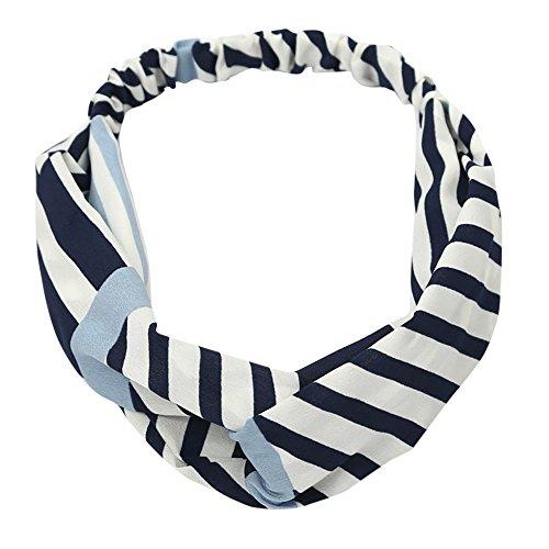 COZOCO 2019 Einfaches und nützliches Stirnband Boho Floral Twist Knoten Stirnband Elastic Wrap Turban Haarband Yoga Sport Damen Mehrfarbig C