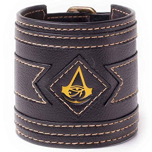 Assassins Creed Origins Wristband Golden Crest Logo Official PS4 Xbox One Size