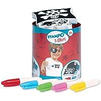Aladine 05303 - Stampo Camiseta Pirata, Pista 1 Tinta, Distintos Sellos y Pernos Textiles