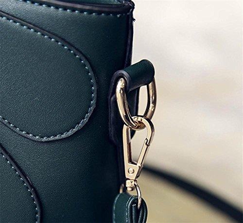 YANX signora Fashion PU nappa petali borsa delle signore Borsa a tracolla Tote (30 * 22 * ??11cm) , green gray