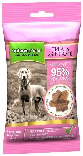 3 x Packs of Real Lamb mini treats (for small dogs) 60g packs – Natures Menu – Made with 95% REAL MEAT – Wheat & Gluten Free