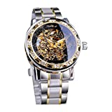 Relojes para Hombres, de Pulsera Actividad Caja para Rlojes Deportivos Correa de Acero Inoxidable Cuarzo Relojes Hombre Negocio