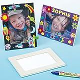 Portafoto di Legno per Bambini da Realizzare, Personalizzare ed Esporre (confezione da 4)