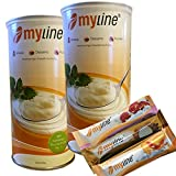 Inko Myline Eiweiß , Vanille, 2er Pack (2 x 400g Dose) Mylineaktion 2016 + 3 Myline Riegel gratis