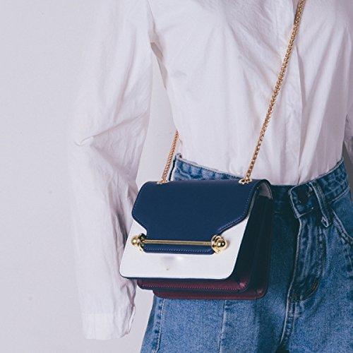BUKUANG Femminile Del Sacchetto Selvaggio Messenger Bag Borsa Tracolla Piccola Catena Pacchetto Quadrato,Black Black