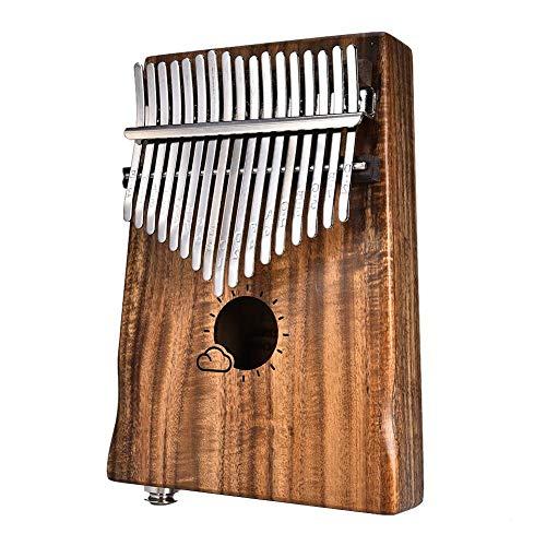 Enjoyyourselves- 17 Keys Thumb Piano builts-in Schutzbox mit hoher Leistung Eva zum Ausbessern von Hammer und Betriebsanweisung.