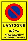 Schild – Eingeschränktes Halteverbot –Ladezone – 15x10cm, 30x20cm und 45x30cm – Bohrlöcher Aufkleber Hartschaum Aluverbund -S00350-017-C