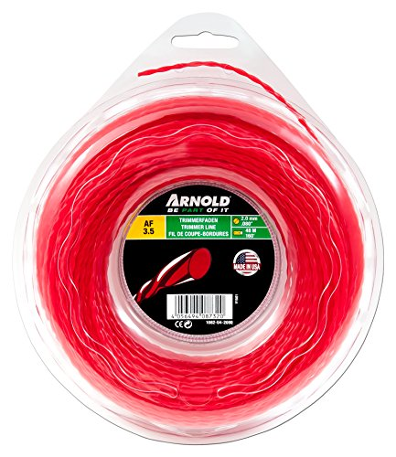 Arnold Recortadora de hilo AF 3,5, 2 mm x 48,7 m, redondo, girar, rojo, 1082-U4-2050