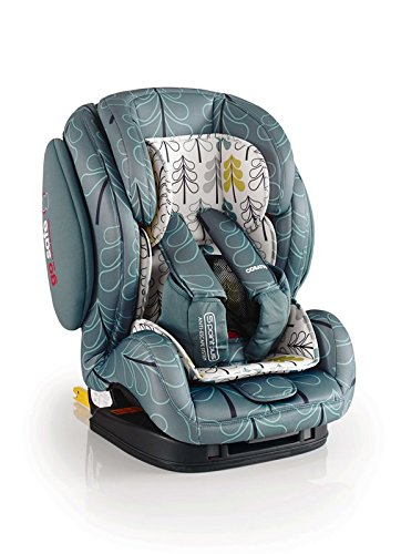 Cosatto Hug Isofix Car Seat Group 123, 9-36 kg, Fjord Cosatto Suitable from 9 kg-36 kg (9 months - 12 years approximatelyimately), Hug ISOFIX is an investment; it fits forward-facing in most cars with standard ISOFIX connectors and top tether anchor point The exclusive Five Point Plus Anti-Escape system deters determined wrigglers and diminishes driver distraction; it features extra-cushioned side impact protection for in-car security Impact protection for in-car security Hug ISOFIX has fabrics, a height-adjustable headrest and reclining padded seat for on-board comfort, plus easy-clean pop-off covers and liner to help you out 1