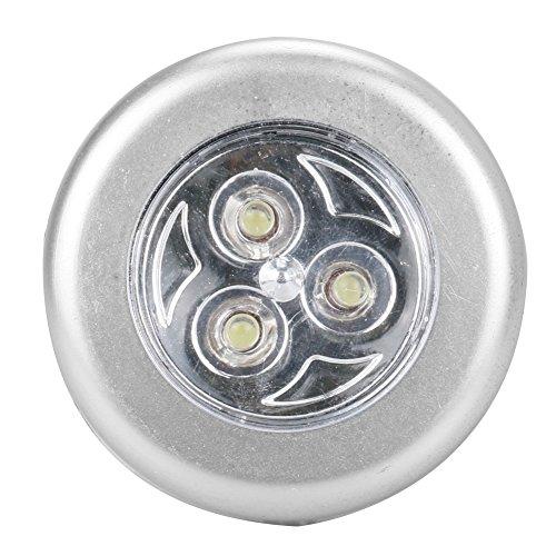 Notfall-Akku-Licht, 3 batteriebetriebene LED-Nachtlicht Wandleuchte Küche Beleuchtung Aufkleber Tippen Sie auf Touch-Lampen für Schränke Schränke / Dachböden / Garagen / Car / Hallen / Lagerraum (Led-licht Tippen)