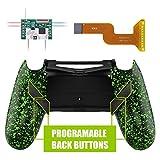 eXtremeRate Dawn Programmable Remap Kit pour PS4 Manette Contrôleur avec Mod Chip & Coque Arrière Modifiée & 4 Boutons Arrières-Compatible avec JDM 040 /050/055-Texturé Vert