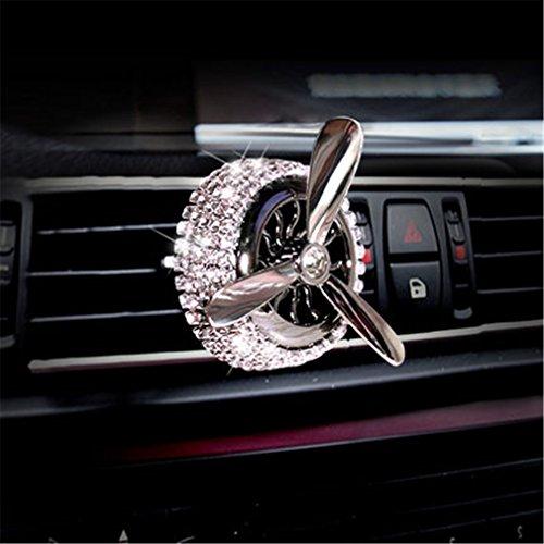 Auto Duft Diffusor Vent Clip Mini Propeller Aromatherapie Luftreiniger Entfernen Rauch Und Bad Gerüche Legierung Diamant,White - Luftreiniger Entfernen Rauch