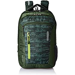 American Tourister Polyester 38 Ltrs Olive Laptop Backpack (AMT TECH GEAR LAPTOP BP 03-OLV)