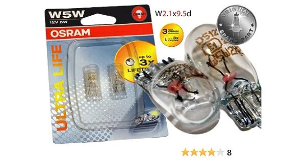 Original Osram 1 Set T10 W5w 12v 5w Ultra Life Soffitte Standlicht Parklicht Scheinwerfer Premium Neu Ohne Fehlermeldung Stvo Zugelassen Auto