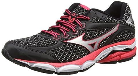 Mizuno Wave Ultima 7, Women's Running Shoes, Black/Silver/Diva Pink, 6.5 UK