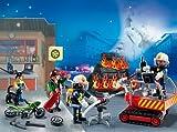 Image of PLAYMOBIL 5495 - Adventskalender Feuerwehreinsatz mit Kartenspiel
