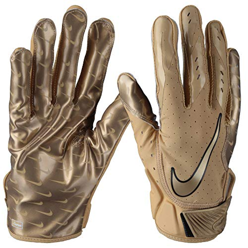Nike Vapor Jet 5.0 Sonderedition, American Football Skill Handschuhe - Gold Gr. M