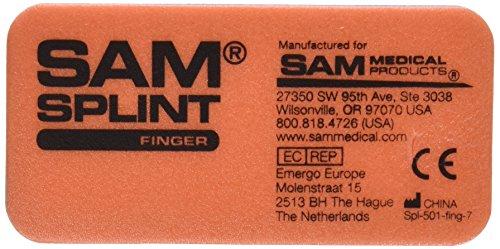 SAM Medical Finger Splint, Orange and Blue, 3 Count (Splint Finger Sam)
