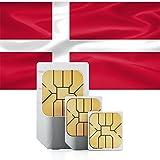 travSIM Dänemark Prepaid Daten SIM Karte + 1GB für 30 Tage - Standard,Micro & Nano SIM