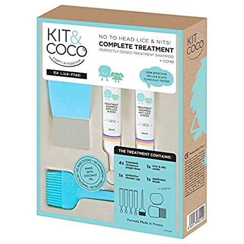 Head lice & eggs complete treatment kit (100ml) from KIT&COCO