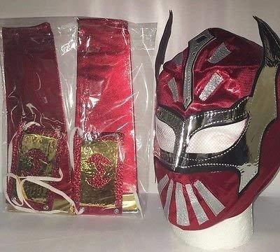 Super Blaze Red Sin Cara Kinder Wrestling Maske mit 2Arm Bands