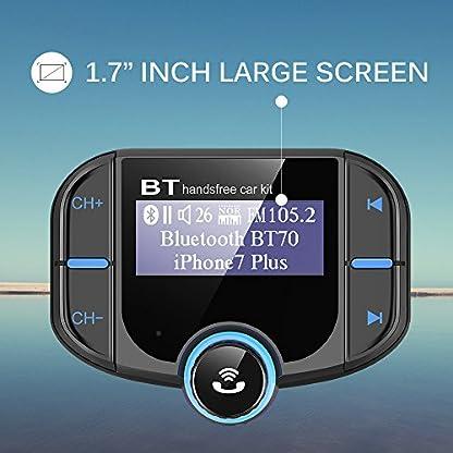 CHGeek-Bluetooth-FM-Transmitter-5V24A-Quick-Charger-30-KFZ-Auto-Wireless-mp3-Player-Audio-Radio-Adapter-freisprecheinrichtung-mit-2-USB-Ladegert-17-Zoll-LED-Anzeige-fr-iOS-und-Android-Gerte