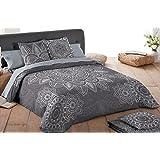 COTTON ART - funda Nordica Modelo ASIA cama de 180 ( 260 x260 cm ) + 2 FUNDAS DE ALMOHADA (45X110cm) ALGODÓN 100% Disponible para cama de 90 105 135 150 y 180.