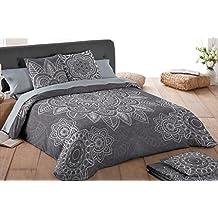 COTTON ART - funda Nordica Modelo ASIA cama de 150 / 160 (240x260cm) + 2 FUNDAS DE ALMOHADA (45X80cm) ALGODÓN 100% Disponible para cama de 90 105 135 150 y 180.