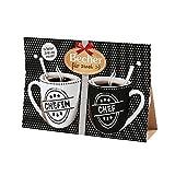 Preis am Stiel Becher Set - für Zwei ''Chefin, Chef'' | Partnertassen Set | Kaffeetasse mit Spruch | Partner Geschenk | Geschenk für Freunde | Kaffeebecher | Geschenkideen für Frauen | Bürotasse