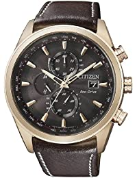 Citizen Herren-Armbanduhr Analog Quarz Leder AT8019-02W
