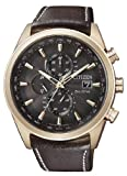Citizen Herren-Armbanduhr XL Analog Quarz Leder AT8019-02W