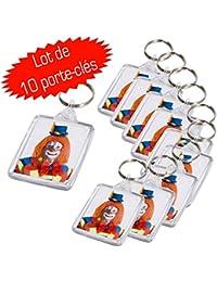 Lot de 10 porte clés photo 30x40 mm Transparent