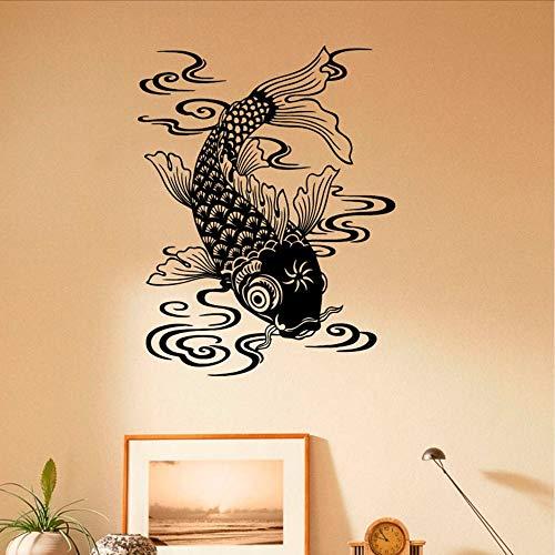 Waofe Schönes Design Fisch Wandtattoo Marine Fisch Vinyl Meerestiere Kunst Wandaufkleber Wasserdichte Kunst Decals Dekoration 57 * 72 Cm (Marine Cover Stereo)