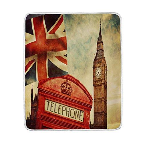 Use7 Home Decor Famous London Big Ben Union Jack - Manta para...