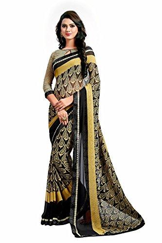 Janasya Women's Multi-Color Printed Georgette Saree With Lace Border - JNE1850-SR-587MULTI (JNE1850-SR-587MULTI)  available at amazon for Rs.636