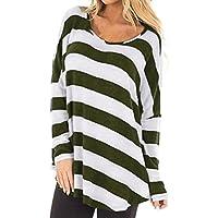 MOIKA Tshirt Damen Große Größen Damen Casual Gestreift Hemd Frauen Fashon Striped Langarm Lose Bluse T-Shirt Tops... preisvergleich bei billige-tabletten.eu