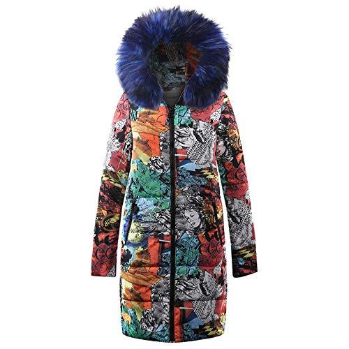 Soupliebe Damen Winter Long Down Cotton Damen Parka Kapuzenmantel Steppjacke Outwear Jacken Mäntel Sweatjacke Winterjacke Fleecejacke Steppjacke
