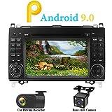 """XISEDO Android 9.0 Autoradio In-dash Car Radio 7"""" Quad Core Car Stereo Schermo di Tocco e Lettore DVD per Mercedes-Benz A-W169, B-W245,Sprinter (con Fotocamera Posteriore e DVR)"""