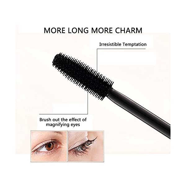 Aolvo 4D Silk Fiber Eyelash Mascara, Extra Long Lash Mascara Waterproof Not Blooming Curling Natural Eye Makeup Long…