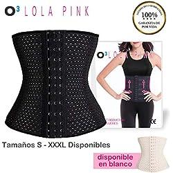 O³ Corset Reductor Adelgazante Mujer - Fajas Reductoras Adelgazantes Para Body Mujer Lola Pink- Fajas Colombianas Cómodas y Ligeras - Talla XL/42
