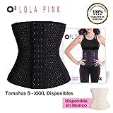 O³ Corset Reductor Adelgazante Mujer - Fajas Reductoras Adelgazantes Para Body Mujer Lola Pink- Fajas Colombianas Cómodas y Ligeras - Talla S/36