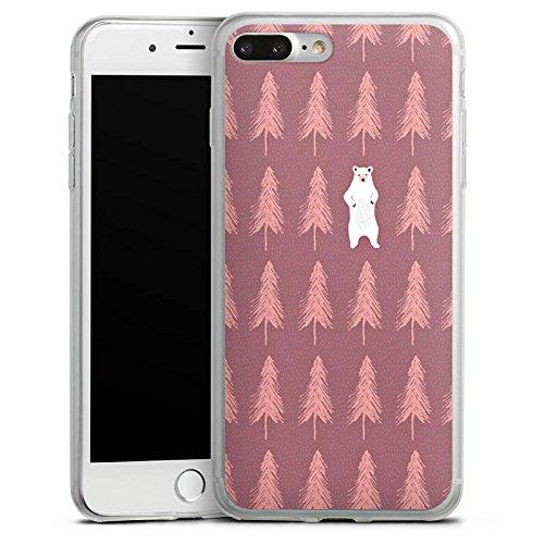 Apple iPhone 8 Plus Slim Case Silikon Hülle Schutzhülle Der Bär im Wald Eisbär Bär Silikon Slim Case transparent