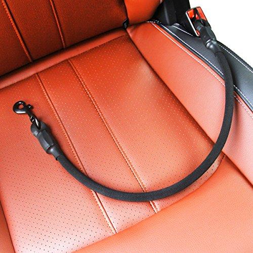 AMZNOVA Auto Hunde Sicherheitsgurt Hundegurt Sicherheitsgeschirr Mit Schnappverschluss Und Schwenkbügel Safety Seat Belt Harness,Schwarz,S